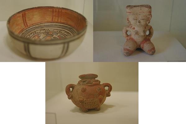 Trois poteries précolombienne de Mi Museo a Granada