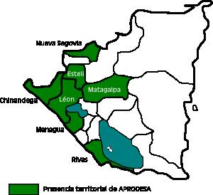 Presencia teritorial de APRODESA en Nicaragua