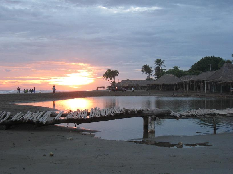 Coucher de soleil sur le locéan Pacifique
